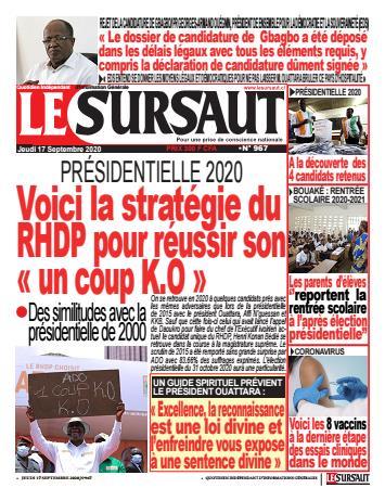 Couverture du Journal LE SURSAUT N° 967 du 17/09/2020