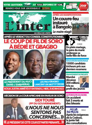 Couverture du Journal L'INTER N° 6661 du 17/09/2020