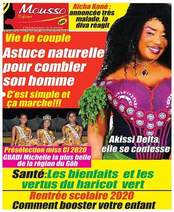 Couverture du Journal MOUSSO D'AFRIQUE N° 808 du 16/09/2020