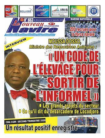 Couverture du Journal LE NOUVEAU NAVIRE N° 663 du 16/09/2020