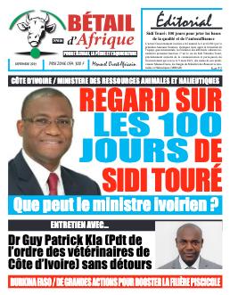 Couverture du Journal BÉTAIL D'AFRIQUE N° 10 du 06/09/2021