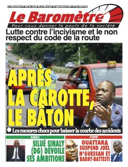 Couverture du Journal LE BAROMETRE N° 32 du 09/09/2021