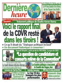 Couverture du Journal DERNIERE HEURE N° 373 du 15/09/2021