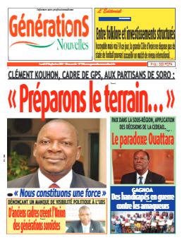 Couverture du Journal Générations nouvelles N° 755 du 27/09/2021