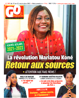 Couverture du Journal GO MAGAZINE N° 885 du 15/09/2021