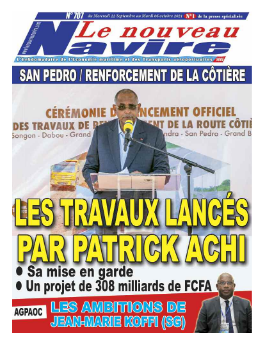 Couverture du Journal LE NOUVEAU NAVIRE N° 707 du 22/09/2021