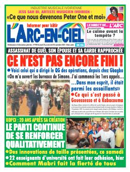 Couverture du Journal ARC EN CIEL N° 499 du 23/09/2021