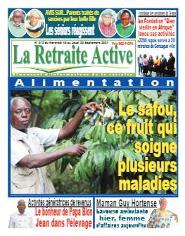 Couverture du Journal LA RETRAITE ACTIVE N° 72 du 15/09/2021