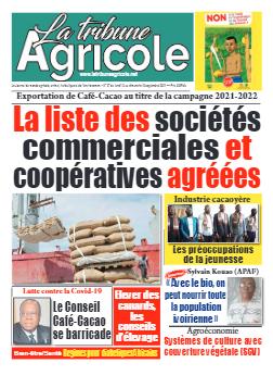 Couverture du Journal La Tribune Agricole N° 37 du 13/09/2021