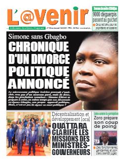 Couverture du Journal L'AVENIR N° 128 du 15/09/2021