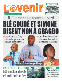 Couverture du Journal L'AVENIR N° 136 du 27/09/2021