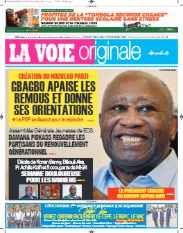 Couverture du Journal LA VOIE ORIGINALE N° 522 du 13/09/2021