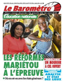 Couverture du Journal LE BAROMETRE N° 33 du 16/09/2021
