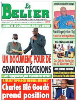 Couverture du Journal LE BELIER N° 271 du 03/09/2021