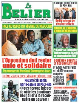 Couverture du Journal LE BELIER N° 279 du 15/09/2021