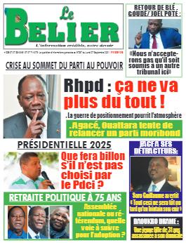 Couverture du Journal LE BELIER N° 287 du 27/09/2021