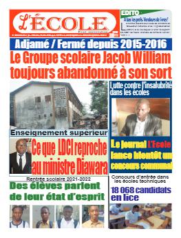 Couverture du Journal L'Ecole N° 47 du 27/09/2021