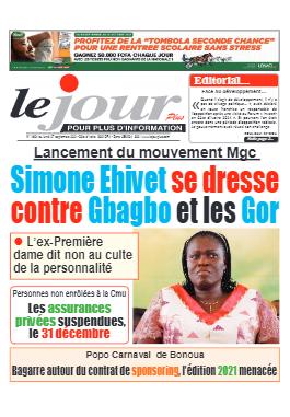 Couverture du Journal LE JOUR PLUS N° 4694 du 27/09/2021