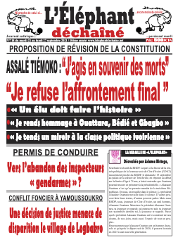 Couverture du Journal L'ÉLÉPHANT DÉCHAINÉ N° 718 du 21/09/2021