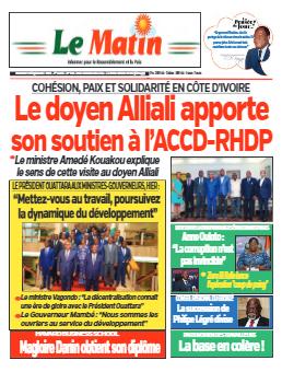 Couverture du Journal LE MATIN N° 636 du 15/09/2021