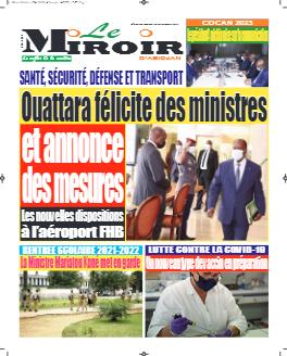 Couverture du Journal LE MIROIR D'ABIDJAN N° 245 du 15/09/2021