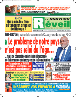 Couverture du Journal LE NOUVEAU RÉVEIL N° 5871 du 27/09/2021