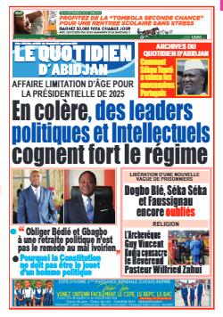 Couverture du Journal LE QUOTIDIEN D'ABIDJAN N° 4022 du 17/09/2021