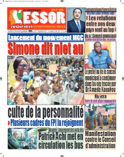Couverture du Journal L'ESSOR IVOIRIEN N° 692 du 27/09/2021