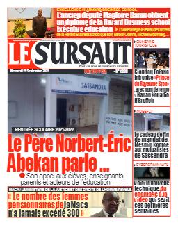 Couverture du Journal LE SURSAUT N° 1208 du 15/09/2021