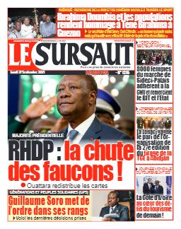 Couverture du Journal LE SURSAUT N° 1215 du 27/09/2021