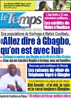 Couverture du Journal LE TEMPS N° 5307 du 27/09/2021