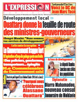 Couverture du Journal L'EXPRESSION N° 3404 du 15/09/2021