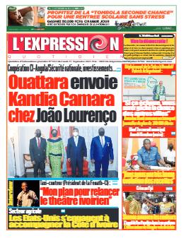 Couverture du Journal L'EXPRESSION N° 3412 du 27/09/2021
