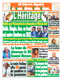 Couverture du Journal L'HÉRITAGE N° 486 du 15/09/2021