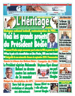 Couverture du Journal L'HÉRITAGE N° 491 du 27/09/2021