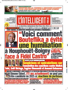 Couverture du Journal L'INTELLIGENT D'ABIDJAN N° 4895 du 27/09/2021
