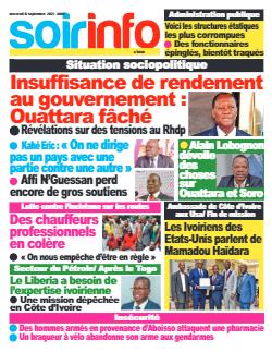 Couverture du Journal SOIR INFO N° 8068 du 15/09/2021