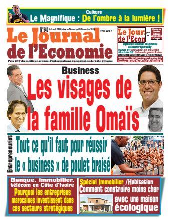 Couverture du Journal LE JOURNAL DE L'ÉCONOMIE N° 540 du 28/10/2019
