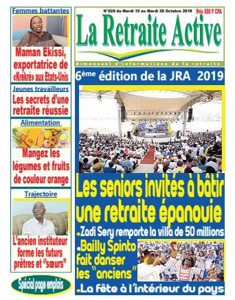 Couverture du Journal LA RETRAITE ACTIVE N° 26 du 14/10/2019