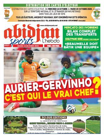 Couverture du Journal Abidjan Sports N° 19 du 13/10/2020