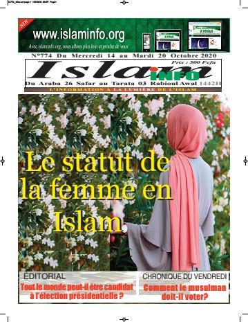 Couverture du Journal ISLAM INFO N° 774 du 19/10/2020