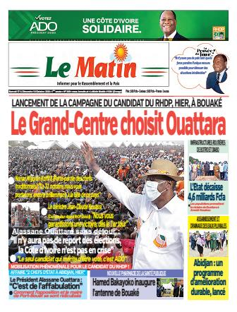 Couverture du Journal LE MATIN N° 369 du 17/10/2020