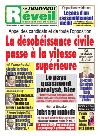 Couverture du Journal LE NOUVEAU RÉVEIL N° 5591 du 17/10/2020