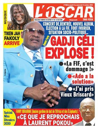 Couverture du Journal L'OSCAR N° 8 du 15/10/2020