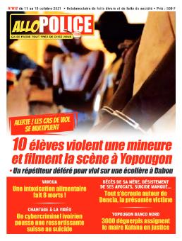 Couverture du Journal ALLO POLICE N° 612 du 11/10/2021