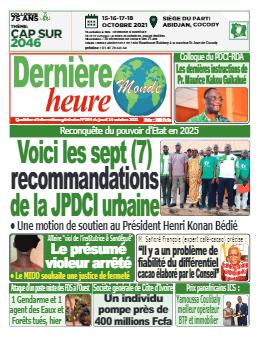 Couverture du Journal DERNIERE HEURE N° 394 du 14/10/2021