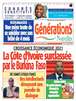 Couverture du Journal Générations nouvelles N° 768 du 14/10/2021