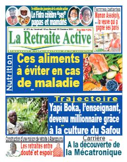Couverture du Journal LA RETRAITE ACTIVE N° 74 du 12/10/2021
