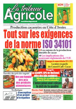 Couverture du Journal La Tribune Agricole N° 41 du 11/10/2021