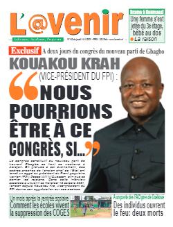 Couverture du Journal L'AVENIR N° 149 du 14/10/2021